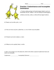 Incomplete And Codominance Worksheet Free Worksheets Library ...