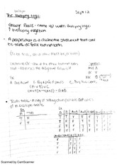 Boolean logic and truth tables
