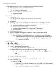APS - Notes - Linear Regression.docx