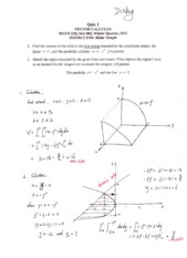 Math 21D Quiz Solutions 1