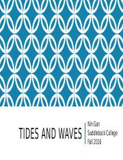 MS 4 Lecture 4 Tides and Waves - lecture slides