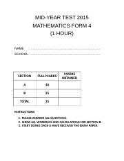 FORM 4 MID YEAR