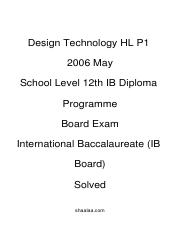 (www.entrance-exam.net)-IB Board-12th IB Diploma Programme Design Technology HL P1 Sample Paper 5.pd