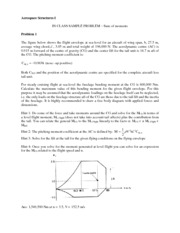 Sum of Moments Sample Problem