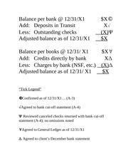 Chapter #16, Bank Reconciliation