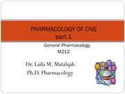 5. pharmacology of CNS