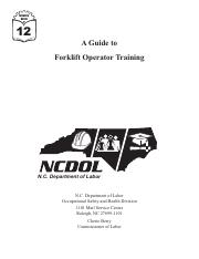 A Guide to Forklift Operator Training