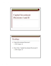 11_12Capital Investment Decisions I and II