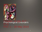 14+Psychological+Disorders