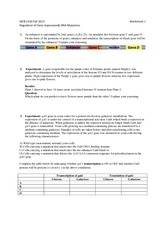 regulation of gene expression worksheet the absence of galactose when galactose is added the. Black Bedroom Furniture Sets. Home Design Ideas