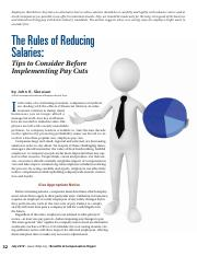 The Rules of Reducing Salaries-Tips to consider before implementing Pay Cuts