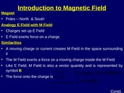 Introduction to Magnetic Field
