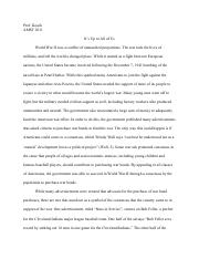 AMST 2011 War Bonds Essay