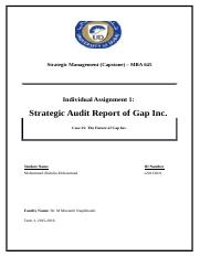 Assignment 1 - Strategic Audit Report (Gap In.).docx