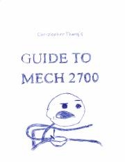 Guide to MECH2700 - Christopher Thang.pdf