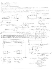 Exam 3 Solution Spring 2010 on Mechanics of Materials