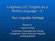 10-Ling 122-4 - Linguistic Heritage