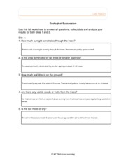 Ecological Succession Worksheet Answers - Delibertad