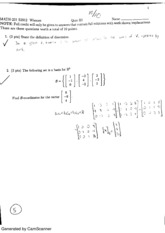 Linear Algebra Quiz 4
