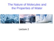 BIO 1510 W2015 Lecture 2 - The Nature of Molecules and the Properties of Water