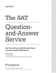 APRIL 2017 TEST pdf - April 2017 Questionand-Answer Service Use this