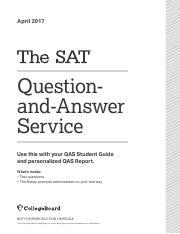 APRIL 2017 TEST pdf - April 2017 Questionand-Answer Service