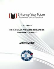 3. CHCCOM005 COMMUNICATE AND WORK IN HEALTH OR COMMUNITY SERVICES.docx