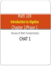 MAT109 Introduction to Algebra Live Chat 1.ppt