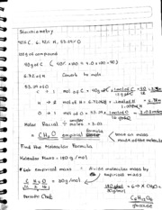 Class Notes 3 CHEM stochiometry