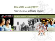 FIN5FMA Lecture 5 (Leverage and capital structure)