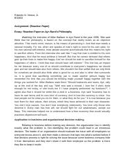 Reaction Paper -  Ayn Rand.docx