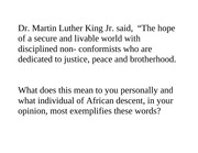 Black History month assignment