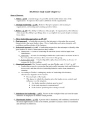 Study Guide Chapter 12