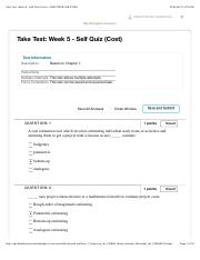 Take Test: Week 5 - Self Quiz (Cost) – MGMT2008-16S-31084