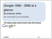 Google - History & Future Overview - ppt