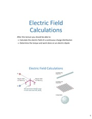Lecture03 ch2 ElectricFieldCalculations