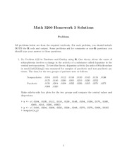 Homework 3 with solutions (MAT3200)