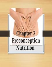 2- Ch 2-Preconception Nutrition - student version