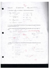 Trig and Derivative of Functions