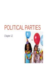 Chapter 12--Political Parties PowerPoint