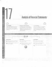 Chap 17 Analysis of Financial Statements
