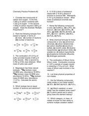 Chem Problems & Answers 2