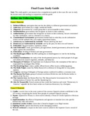 Political Science Final Exam Study Guide
