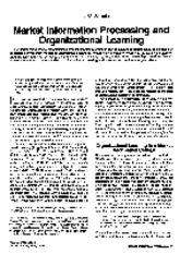 (1994) Market Information Processing and Organizational Learning