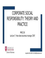 what is social responsibility theory