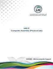 LAB 01 - Computer Assembly (Physical Lab)
