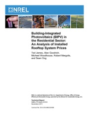 Photovoltaics Residential Sector
