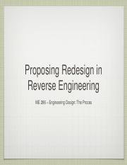 Redesign from Reverse Engr