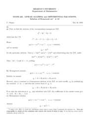 homework set 18-Solutions