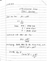 CHM 303_Ideal Gas Law Derivations
